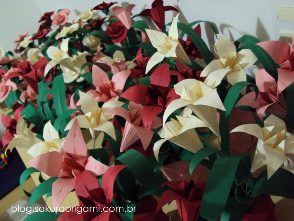 Matrimonio Tema Origami : Arranjo de flores de origami para decoração de festa centro de